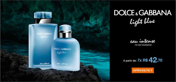 18040d90b3696 Light Blue Pour Homme Eau Intense Dolce   Gabbana Eau de Parfum - Perfume  Masculino 50ml