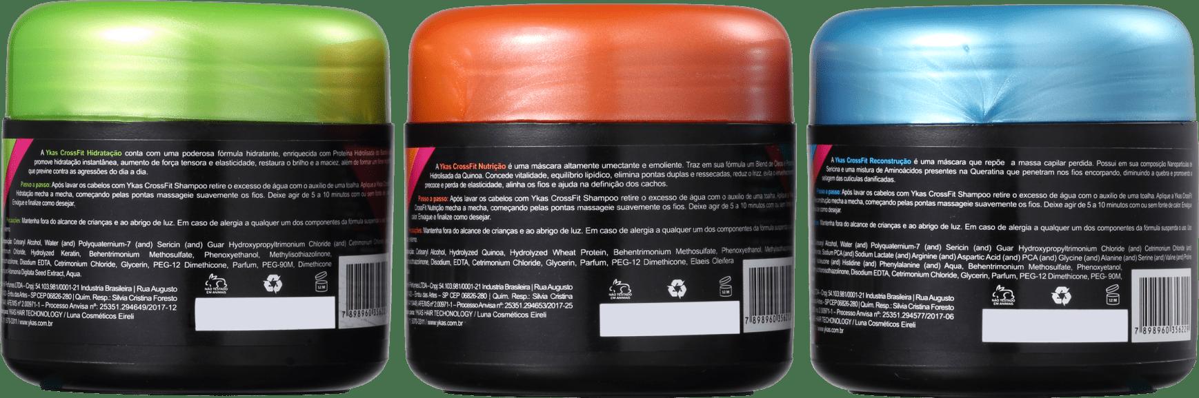 40a317c2496 Kit YKAS Crossfit Cronograma Capilar Express No Poo (3 Produtos)