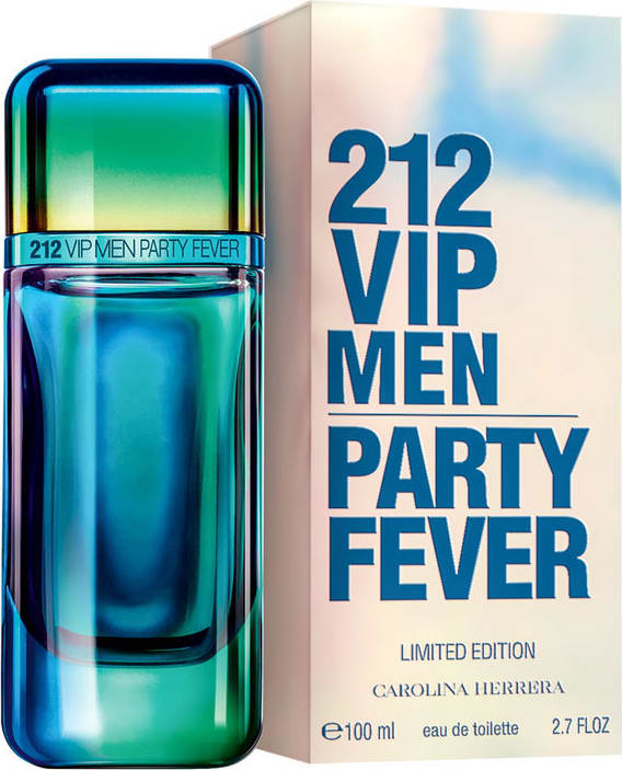 b0797b6ed 212 VIP Men Party Fever Carolina Hererra Eau de Toilette - Perfume  Masculino 100ml