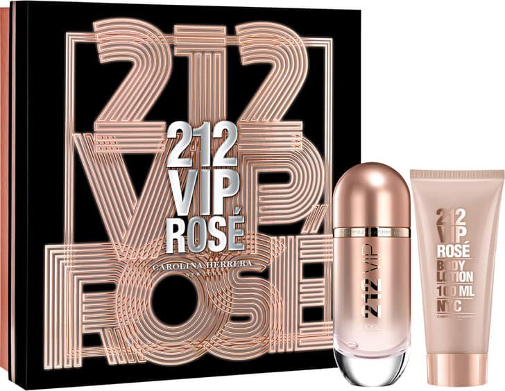 08e1ae25b Conjunto 212 VIP Rosé Carolina Herrera Feminino - Eau de Parfum 80ml +  Loção Corporal 100ml