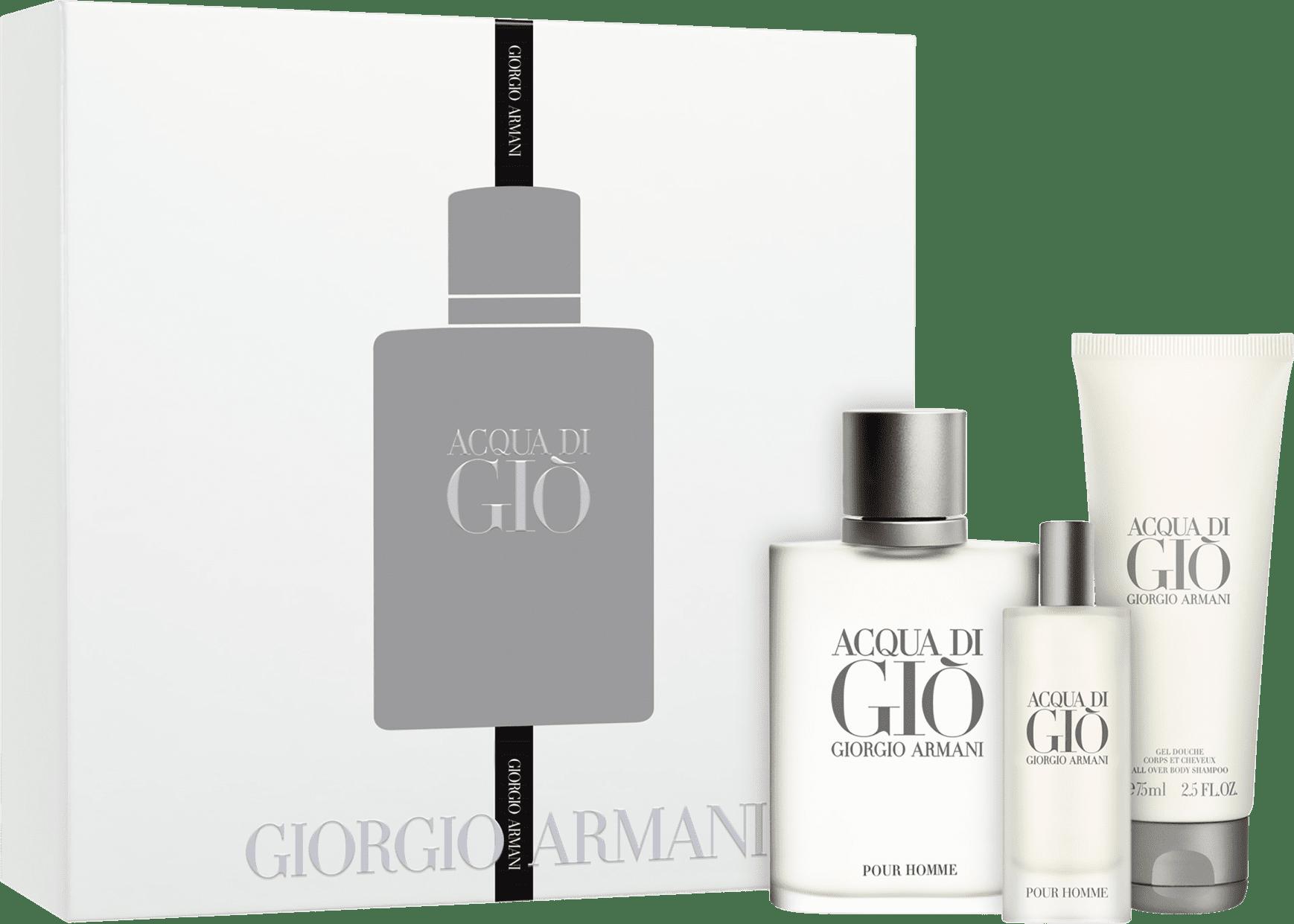 ed860eb748 Conjunto Acqua di Giò Pour Homme Giorgio Armani Masculino - Eau de Toilette  100ml + Eau