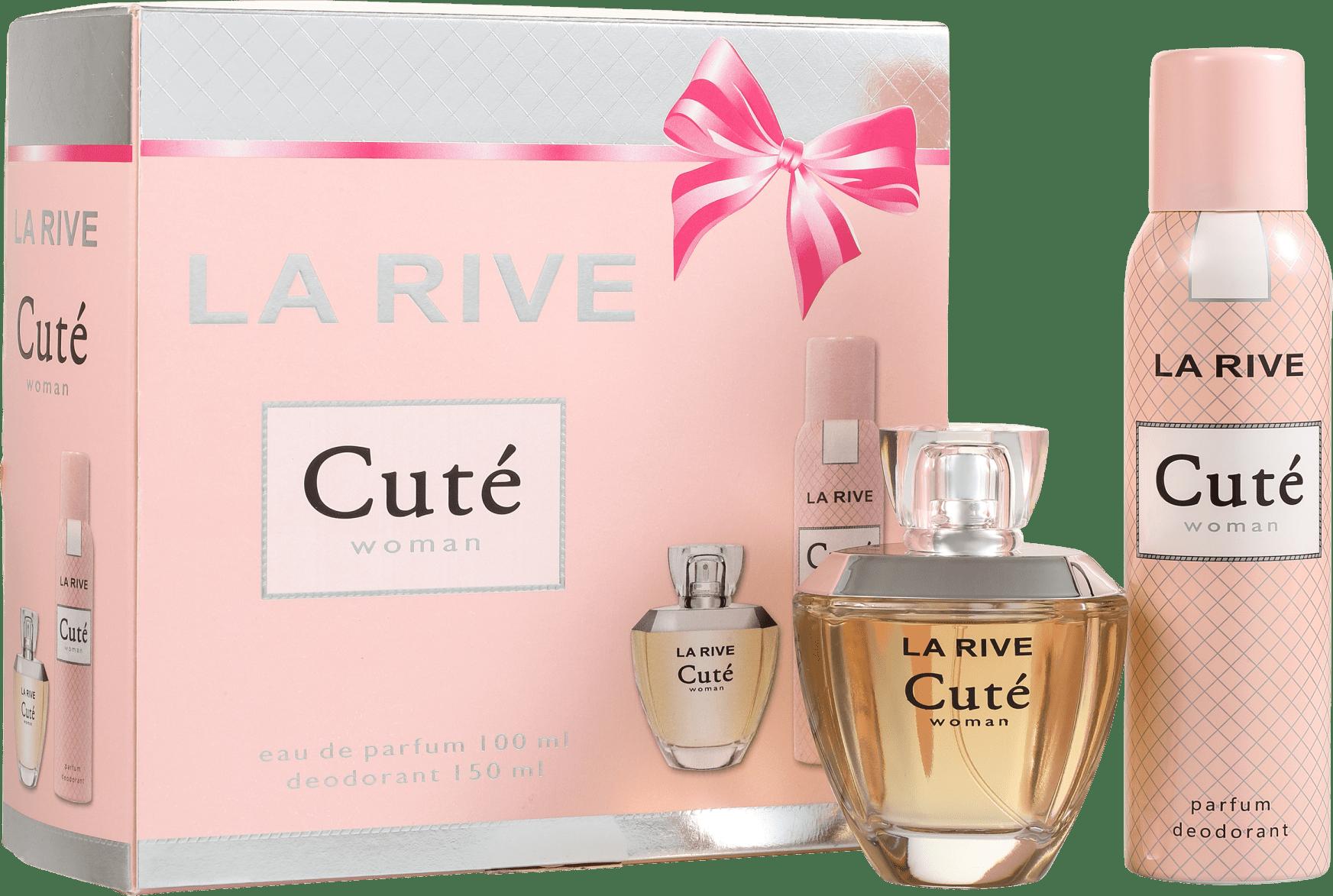 94a5d9c386 Conjunto Cuté La Rive Feminino - Eau de Toilette 100ml + Desodorante 150ml