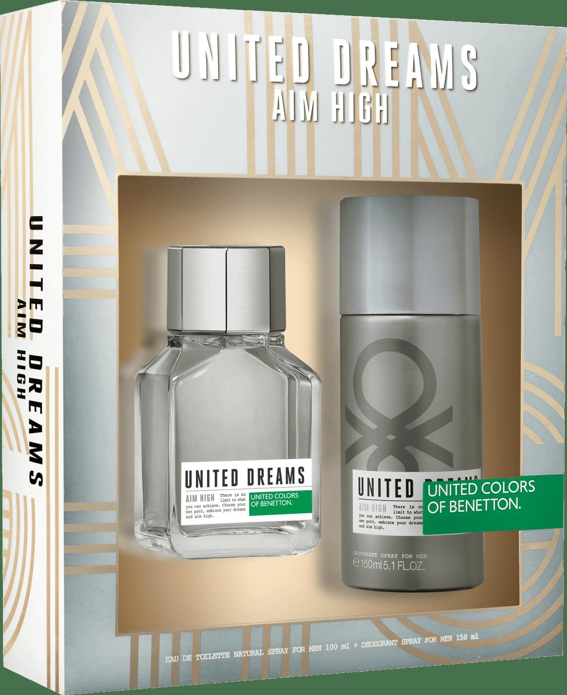 714a57067 Conjunto United Dreams Aim High Benetton Masculino - Eau de Toilette 100ml  + Desodorante 150ml