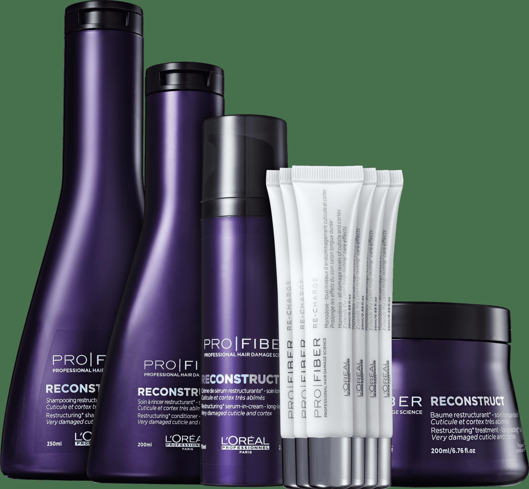 bfb134d72 Kit L Oréal Professionnel Pro Fiber Reconstruct Re-Charge (5 Produtos)