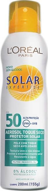 L Oréal Paris Solar Expertise Toque Seco FPS 50 - Protetor Solar em Spray  200ml 170d0d12a5