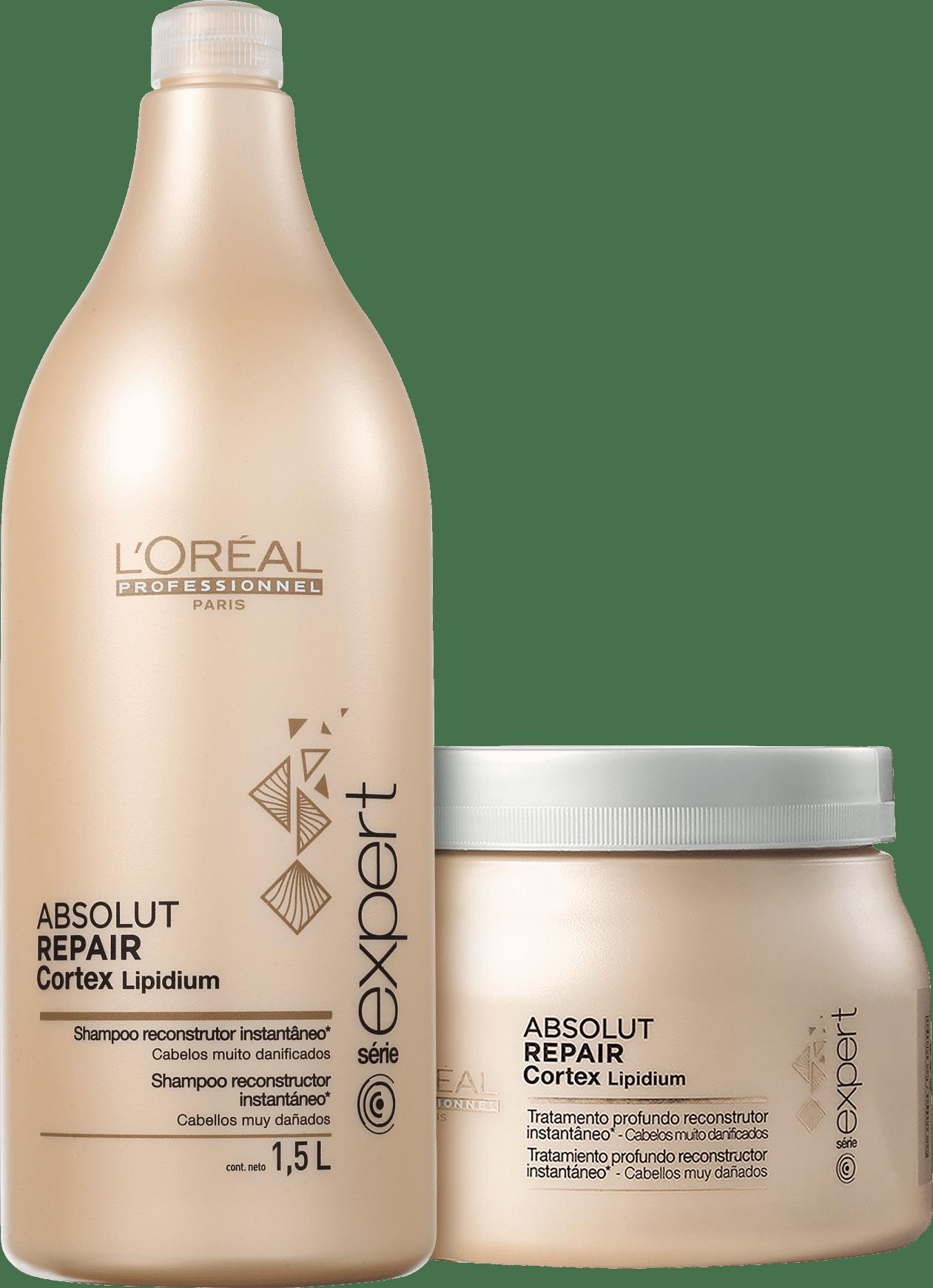 9b72b0fac Kit L'Oréal Professionnel Expert Absolut Repair Cortex Lipidium Duo Salon  (2 Produtos)