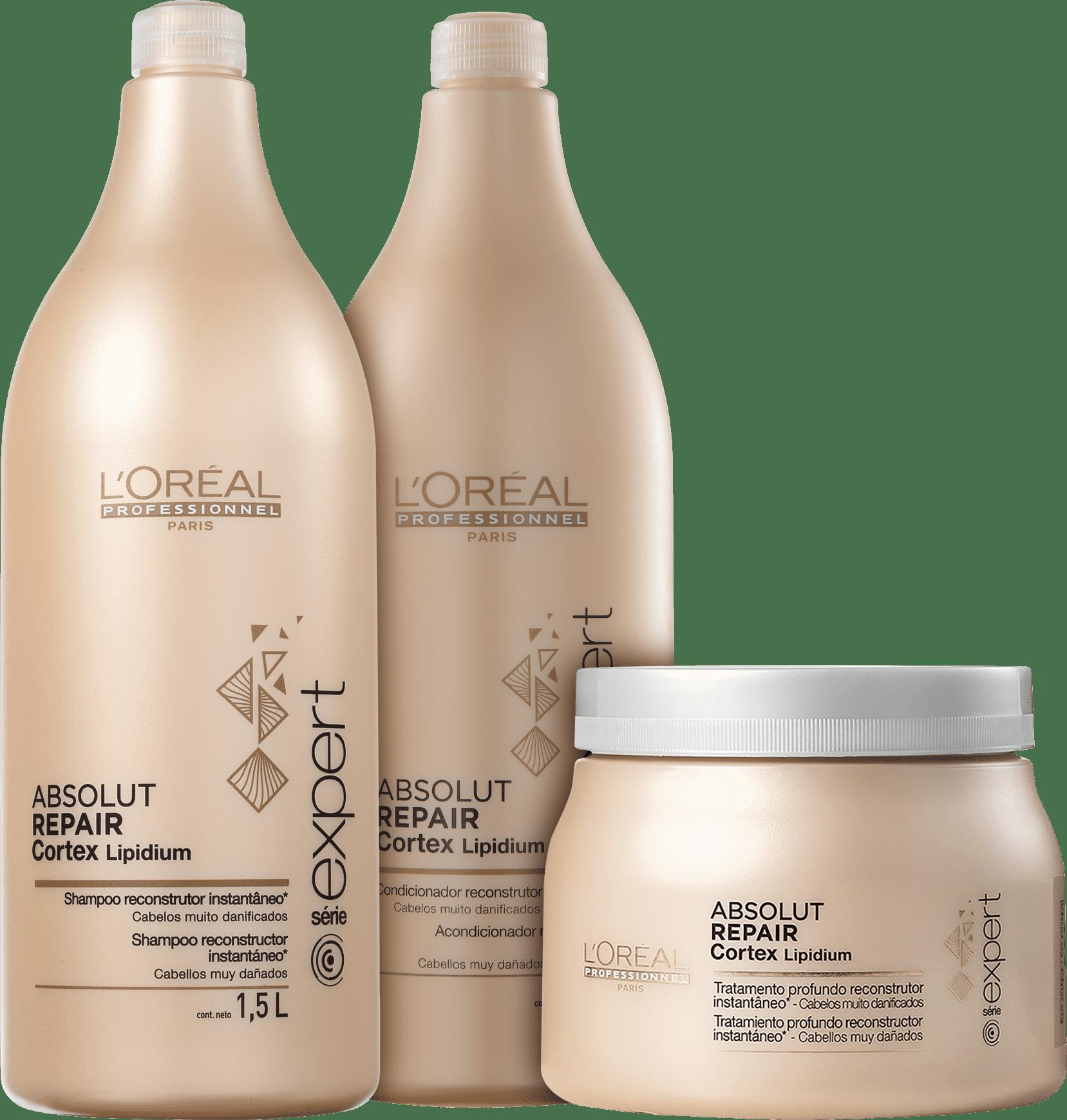 7688ad3f4 Kit L'Oréal Professionnel Expert Absolut Repair Cortex Lipidium Salão (3  Produtos)