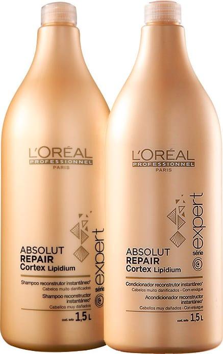 3d8e3def9 Kit L'Oréal Professionnel Expert Absolut Repair Cortex Lipidium Salon (2  Produtos)