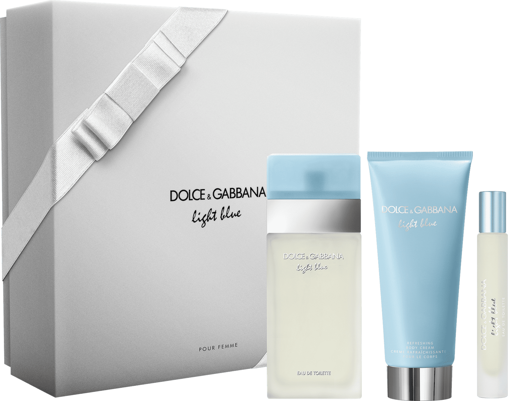 Conjunto Light Blue Trio Dolce   Gabbana Feminino - Eau de Toilette 100ml +  Creme Corporal 793c2d87ca