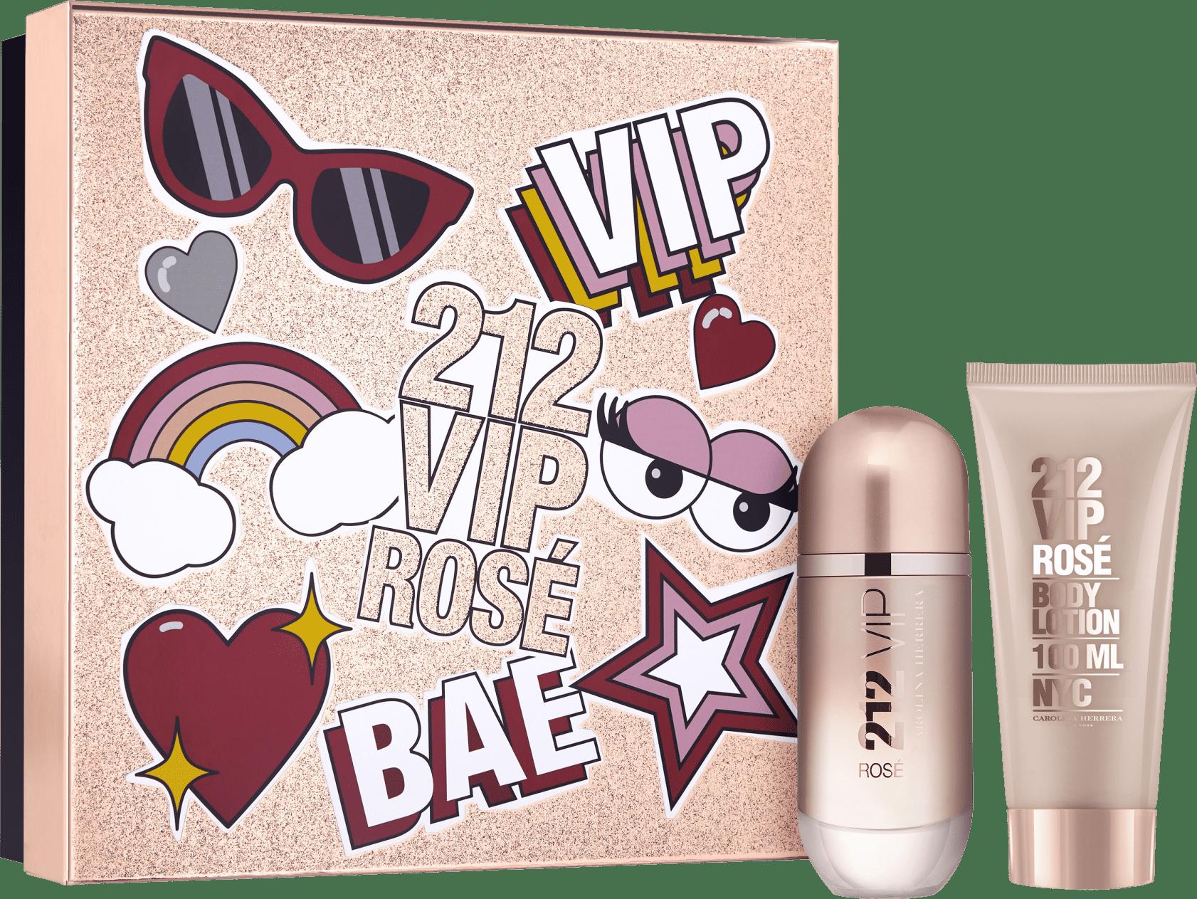b2bac8858a Conjunto 212 VIP Rosé Bae Carolina Herrera Feminino - Eau de Parfum 80ml +  Loção Corporal