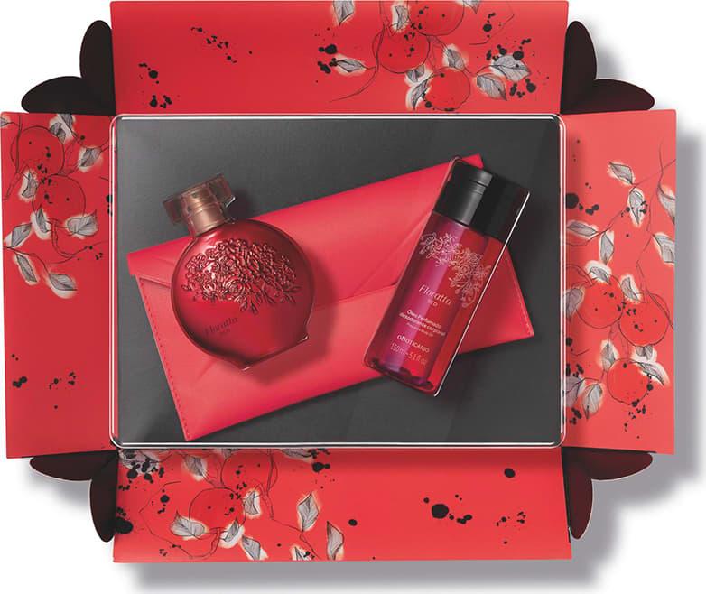 Kit Presente Dia dos Namorados Floratta Red (4 itens) | O Boticário
