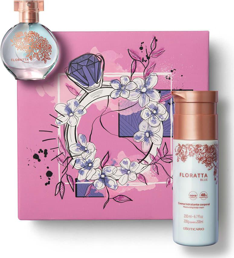 Kit Presente Dia dos Namorados Floratta Blue: Desodorante Colônia 30ml +  Creme Corporal 200ml + Caixa de Presente | O Boticário