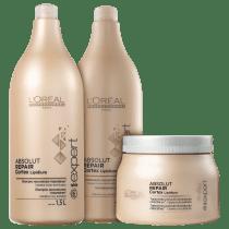 21f07affa -42% Kit L'Oréal Professionnel Expert Absolut Repair Cortex Lipidium Salão  (3 Produtos)