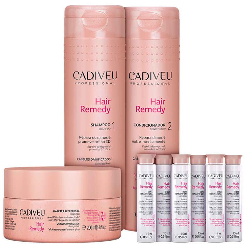 e2decf5ef Cadiveu Professional Hair Remedy Reparação Total Kit (4 Produtos) - Beleza  na Web
