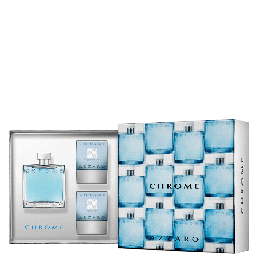 Conjunto Chrome Azzaro Full Masculino - Eau de Toilette 100ml + Bálsamo Pós-Barba  75ml ... 0be6226cbd