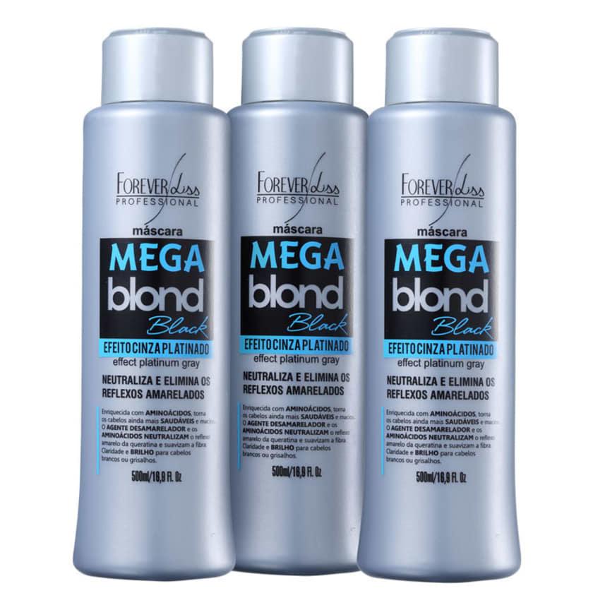 7428505a4cbc0 -40% Forever Liss Professional Mega Blond Black - Máscara Matizadora 3x500ml