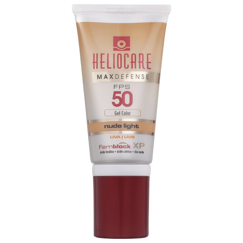 Melora Heliocare Max Defense Gel Color Nude Light FPS 50 - Protetor Solar  com Cor 50g c8818ce9b6257
