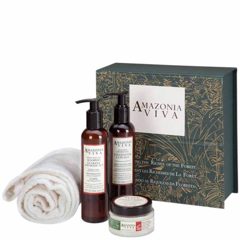 Amazonia Viva Kit Spa Hidratação Intensiva (3 Produtos + Touca)