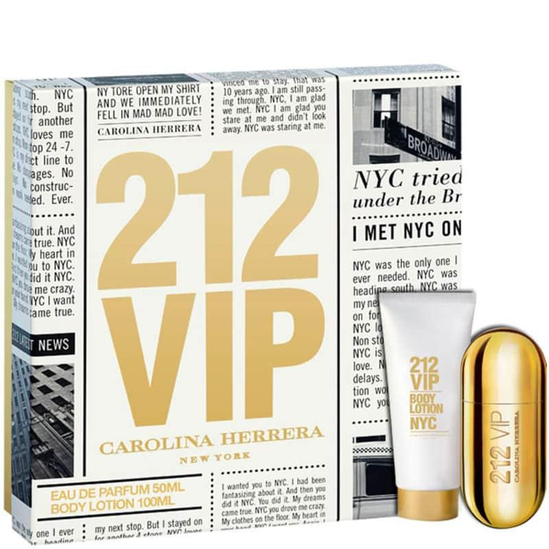 fe4826928 Carolina Herrera Conjunto Feminino 212 Vip - Eau de Parfum 50ml + Loção  100ml
