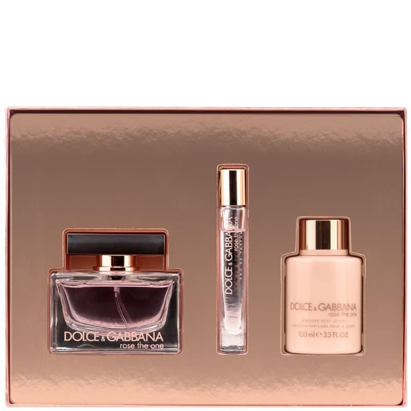 Dolce   Gabbana Conjunto Feminino Rose The One - Eau de Parfum 75ml + Loção  100ml + Purse Spray 6ml 2d74b5e77b