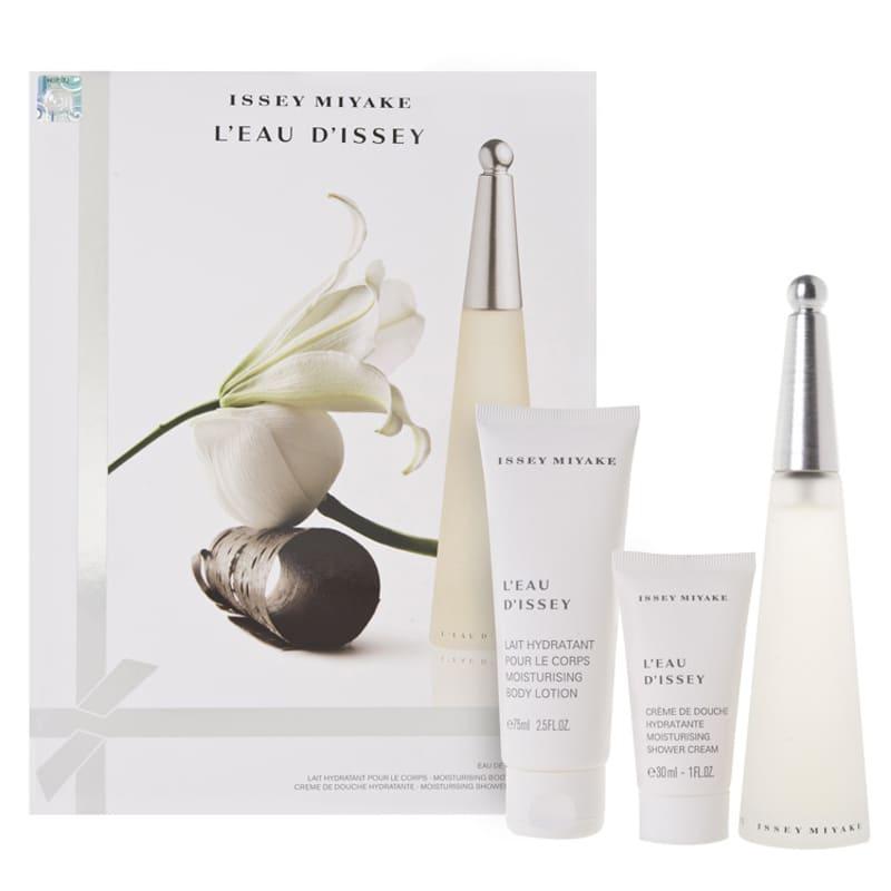 Issey Miyake Conjunto L'Eau d'Issey - Eau de Toilette 50ml + Body Lotion 75ml + Shower Cream 30ml