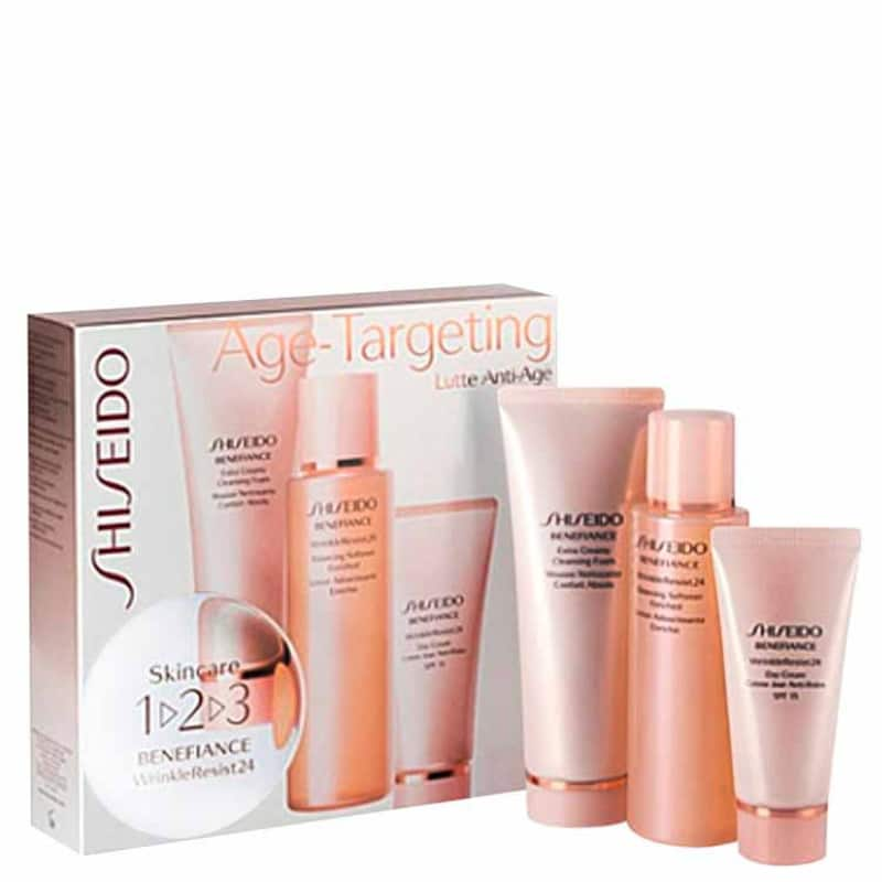 Shiseido Kit Benefiance Wrinkle Resist24 Age-Targeting Skincare 1-2-3 (3 Produtos)