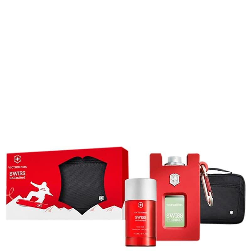 Victorinox Conjunto Masculino Swiss Army Unlimited - Eau de Toilette 100ml + Desodorante 75ml + Bolsa