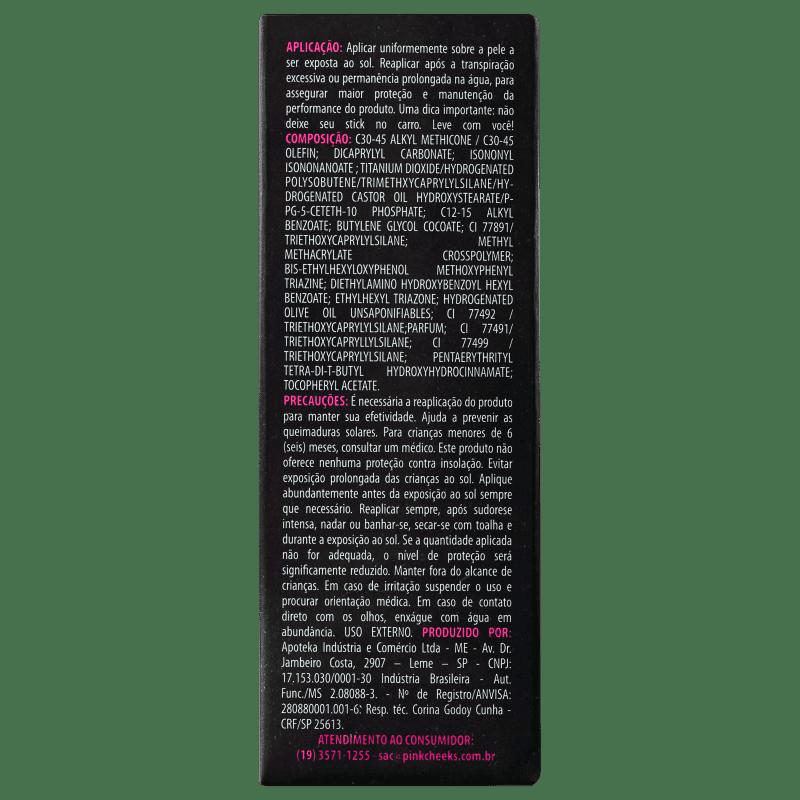 20e30573f Pink Cheeks Pink Stick 15KM FPS 90 - Protetor Solar com Cor 14g. ‹ ›