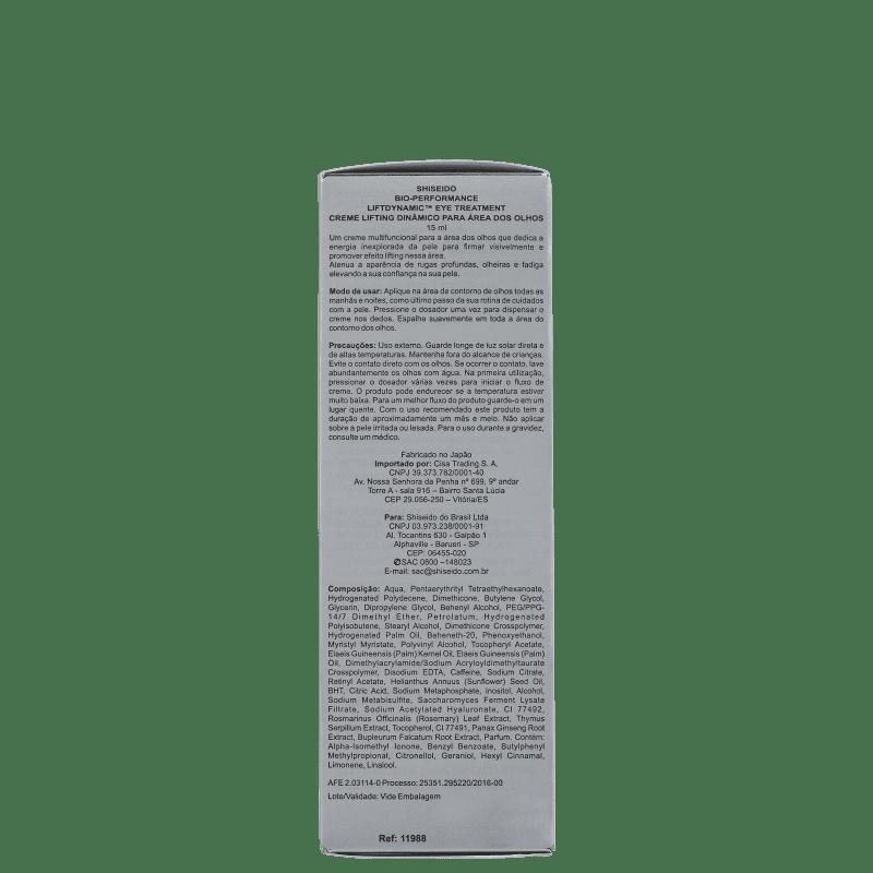 b05329495 Shiseido Bio-Performance Liftdynamic Eye Treatment - Creme para Olhos 15ml.  ‹ ›