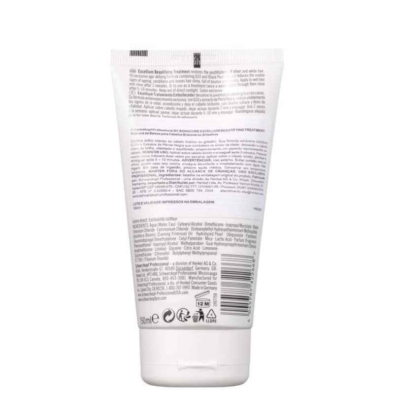 2de87f9fe2463 Schwarzkopf Professional BC Excellium Beautifying Treatment - Máscara 150ml.  ‹ ›