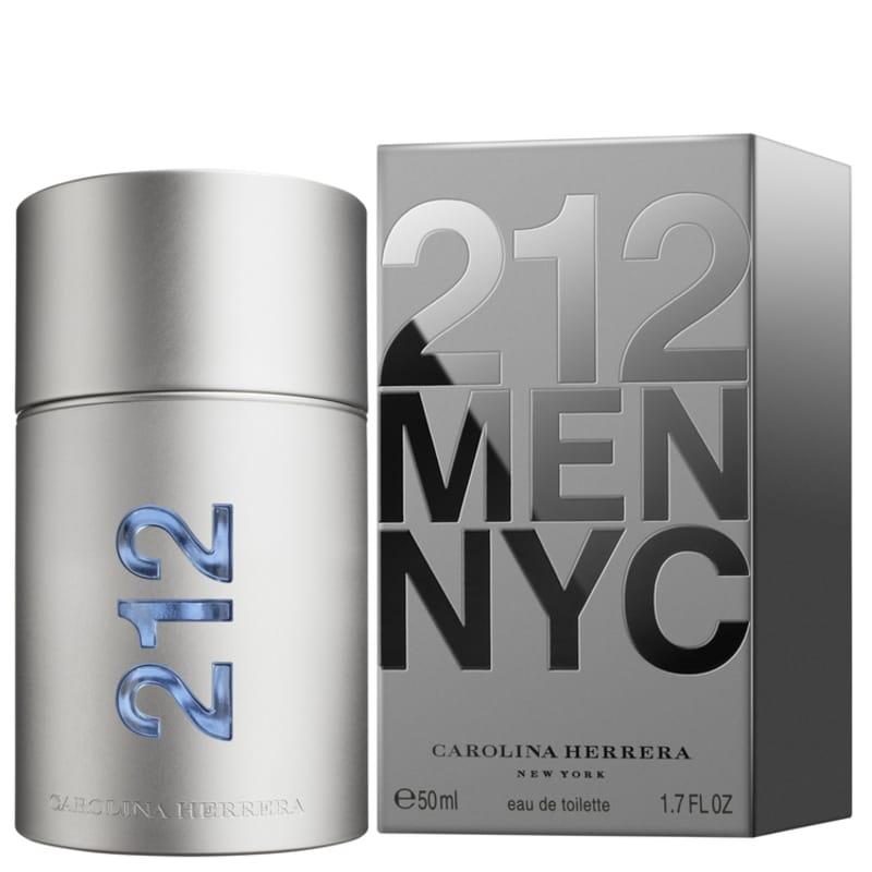 212 Men Carolina Herrera Eau de Toilette - Perfume Masculino 50ml 30a64852c9