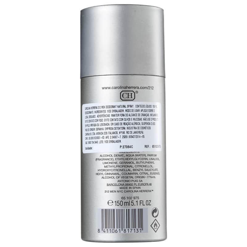 Carolina Herrera 212 Men - Desodorante Spray Masculino 150ml. ‹ › 4534a8f69c