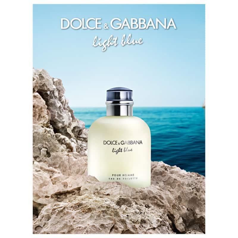 33858559772a7d Light Blue Pour Homme Dolce   Gabbana Eau de Toilette - Perfume Masculino  125ml
