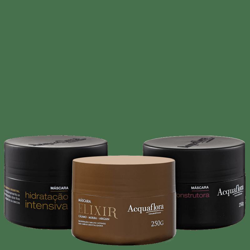 Kit Acquaflora Cronograma Capilar Óleos Poderosos (3 Produtos)