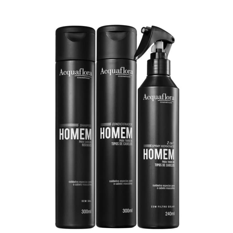Acquaflora Homem Normais Leave-In Kit (3 Produtos)