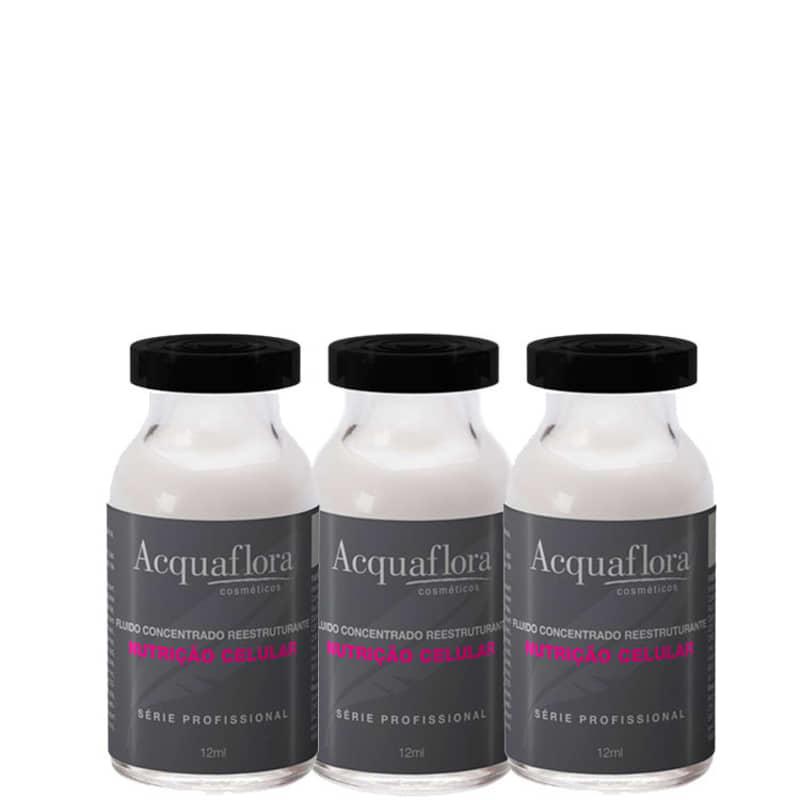 Acquaflora Nutrição Celular - Ampola de Nutrição 3x12ml