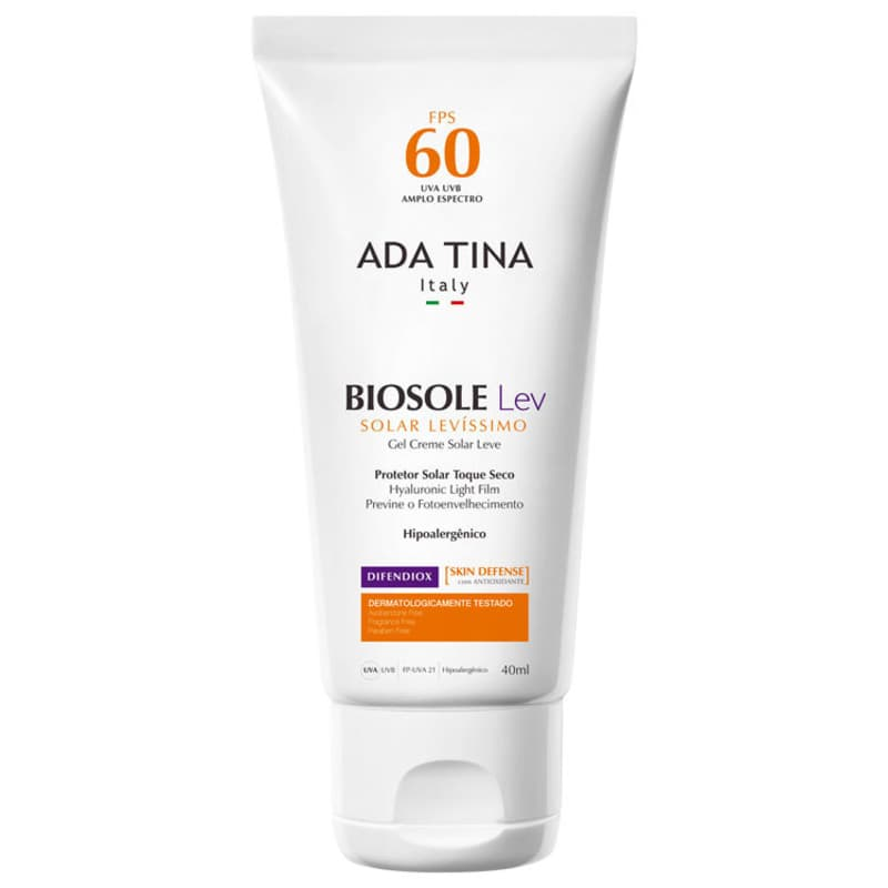 Ada Tina Biosole Lev FPS 60 - Protetor Solar Facial 40ml