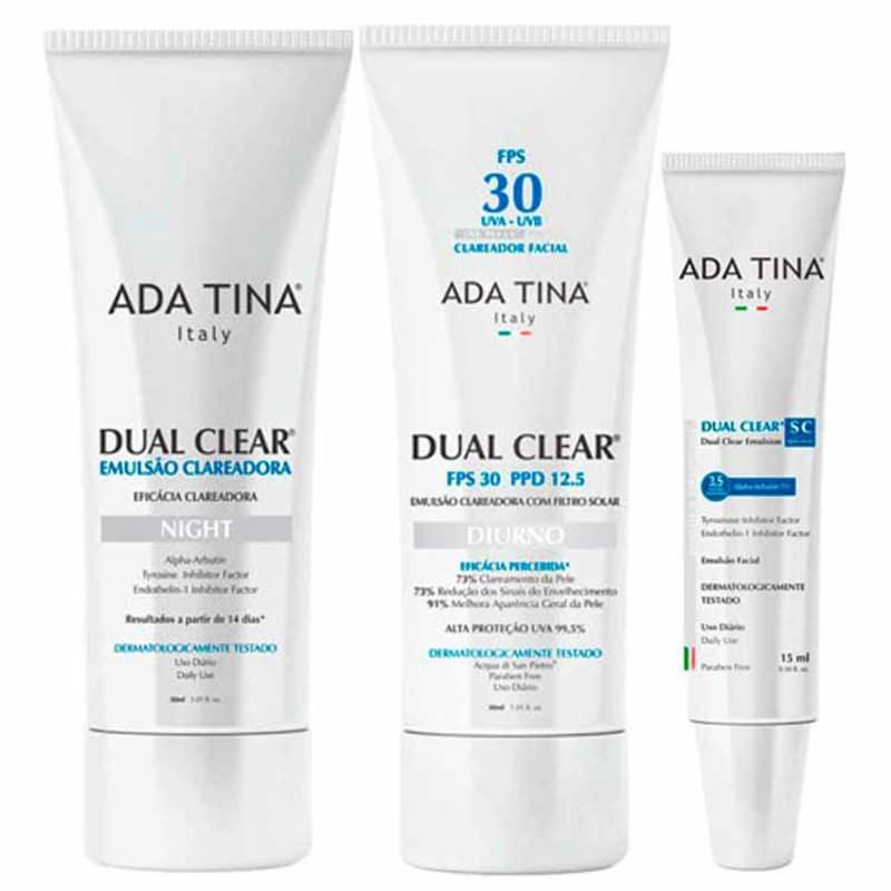 Ada Tina Dual Clear Complete Treatment Kit (3 Produtos)