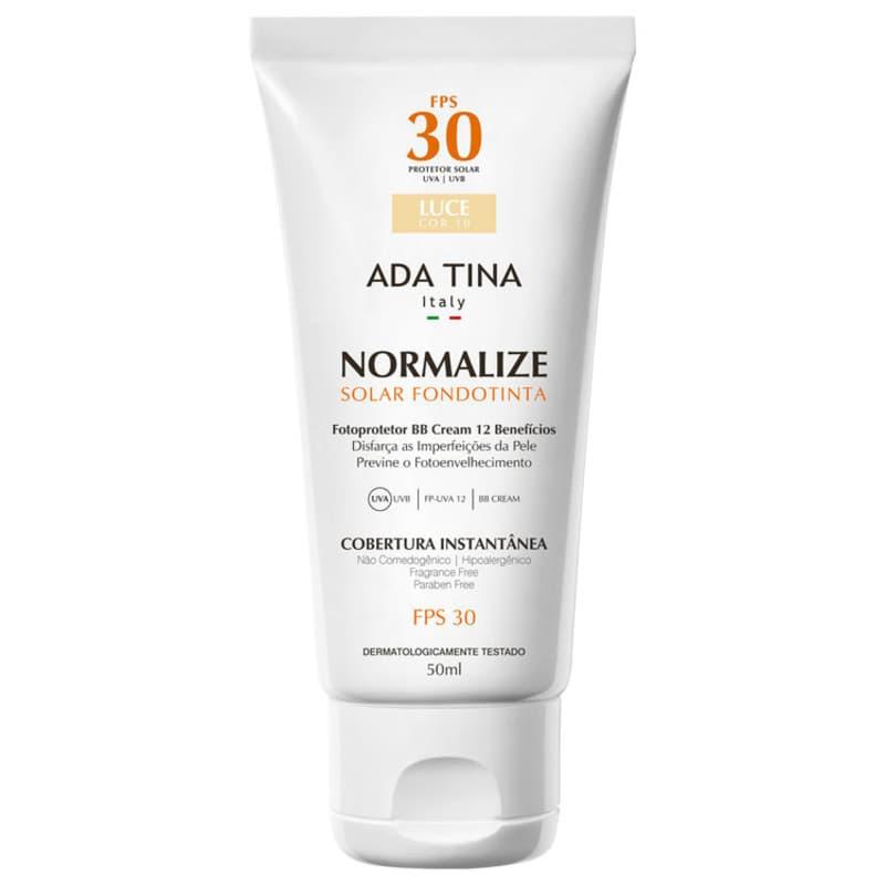 Ada Tina Normalize Ft Luce Cor 10 FPS 30 - Protetor Solar Facial com Cor 50ml