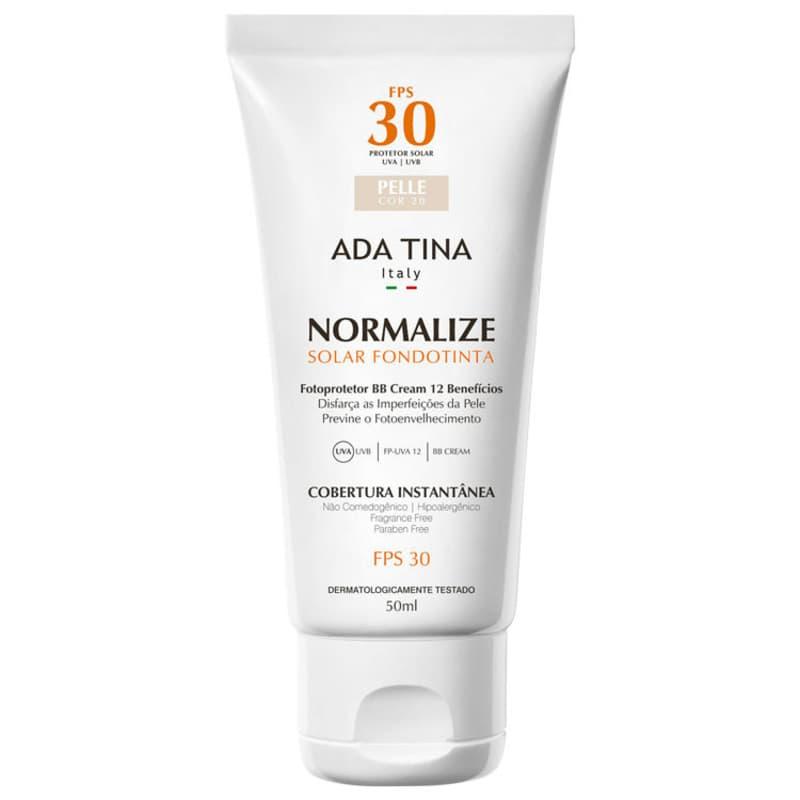 Ada Tina Normalize Ft Pelle Cor 20 FPS 30 - Protetor Solar Facial com Cor 50ml