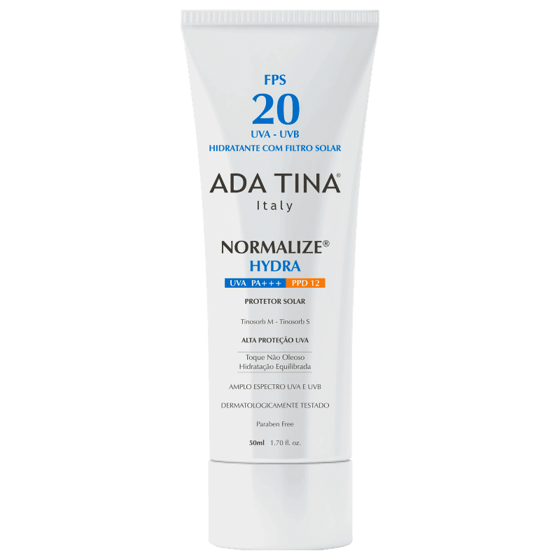 Ada Tina Normalize Hydra Fps 20 Ppd 12 - Protetor Solar Facial 50ml