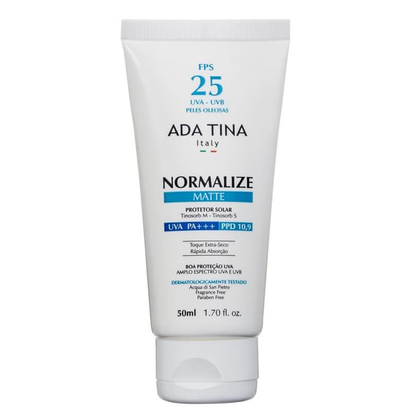 Ada Tina Normalize Matte FPS 25 - Protetor Solar Facial 50ml