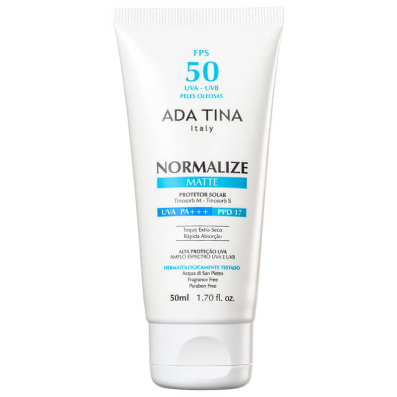 Ada Tina Normalize Matte FPS 50 - Protetor Solar Facial 50ml