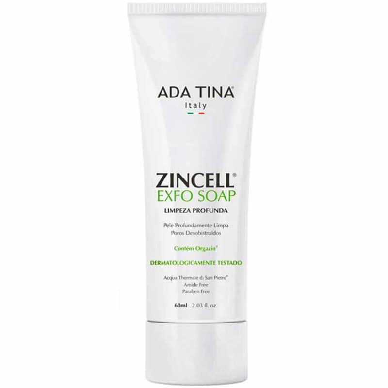 Ada Tina Zincell Exfo Soap - Sabonete Líquido Facial Esfoliante 60ml
