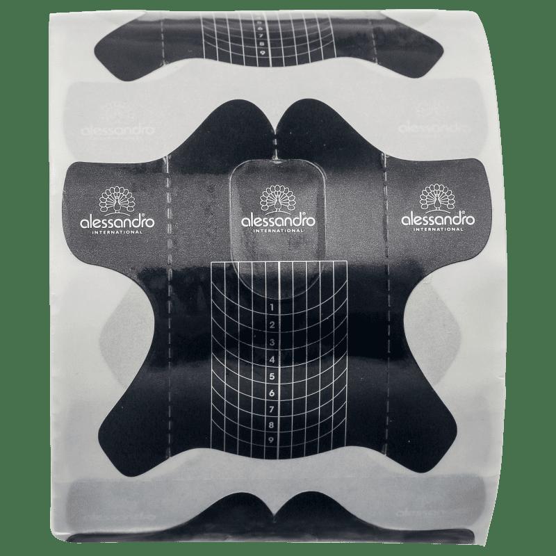 Alessandro International Butterfly Template Forms - Molde para Unha em Gel (500 unidades)