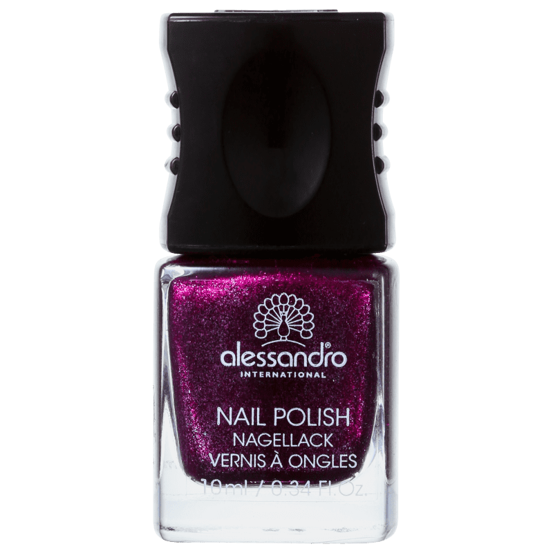 Alessandro International Nail Polish Purple Purpose Glitter - Esmalte Glitter 10ml