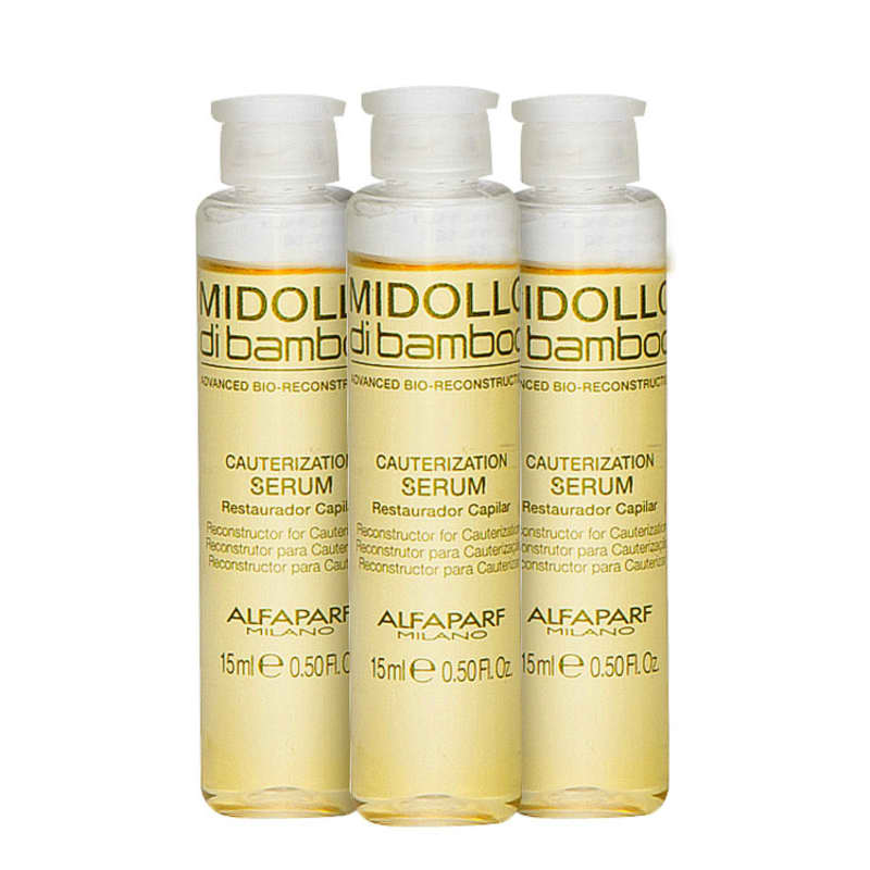 Alfaparf Midollo di Bamboo Cauterization - Sérum Capilar 3x15ml