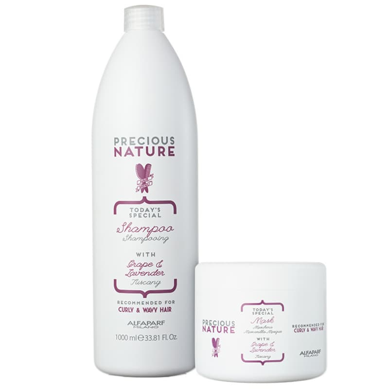 Kit Alfaparf Precious Nature Grape & Lavender Salon Duo (2 Produtos)