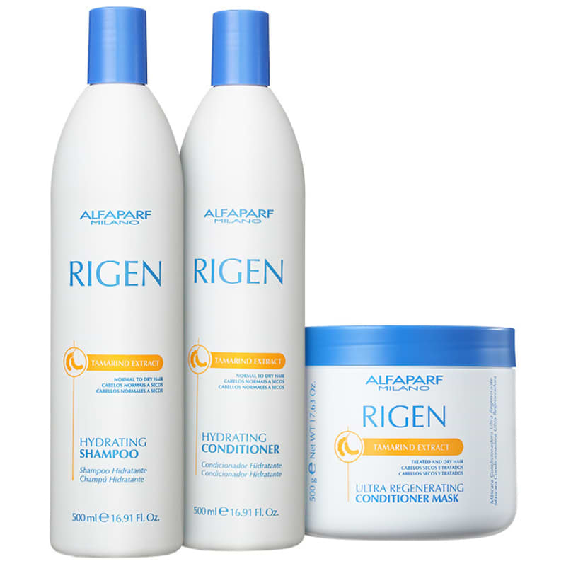Kit Alfaparf Rigen Tamarind Extract Ultra Regenerating Triplo (3 Produtos)