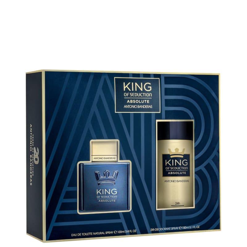 Kit Perfume King of Seduction Absolute Masculino Eau de Toilette 100ml + Desodorante 150ml Único